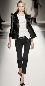 leather jacket- runway